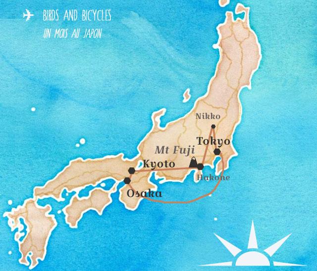 Itinéraire voyage au Japon