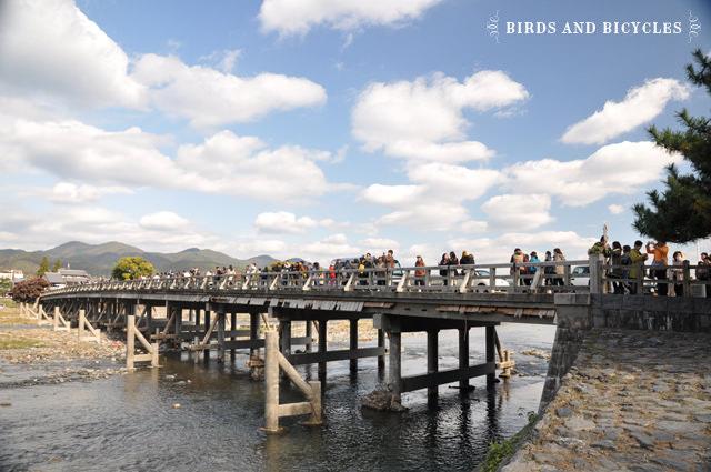 Quartier d'Arashiyama, Kyoto: Le pont emblématique du lieu