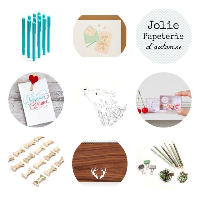 Sélection de Jolie Papeterie de septembre sur le blog B&B