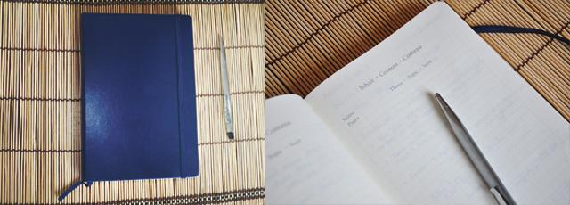 leuchtturm- carnet aux pages numérotées