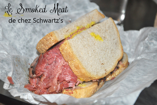 Sandwich au Smoked Meat de chez Schwartz