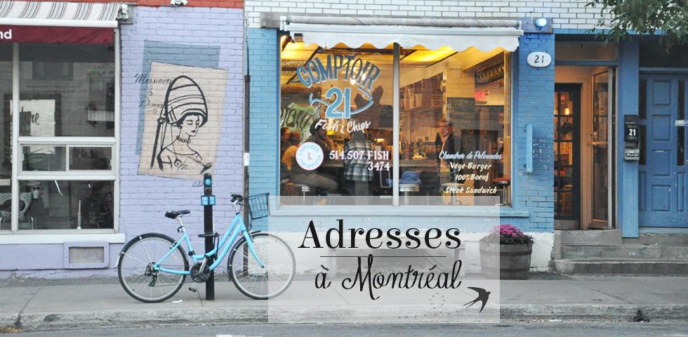 Mes bonnes adresses à Montréal