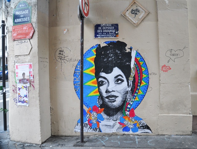 Street art - collage à Paris