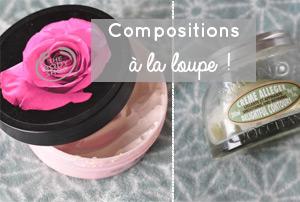 Compositions des crèmes pour le corps: zoom sur les ingrédients des beurres corporels de The Body Shop et d'une crème de l'Occitane