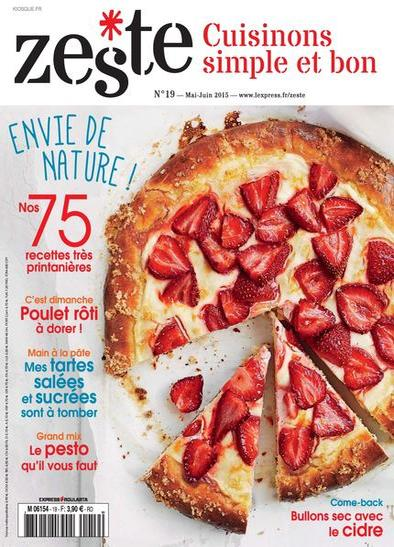 Le magazine de cuisine Zeste