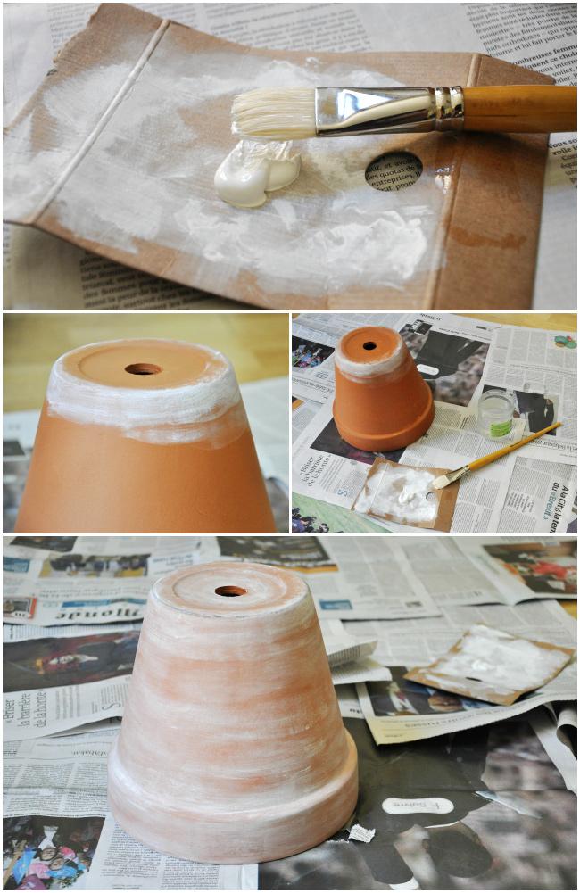 Customiser ses pots de fleur en terre cuite