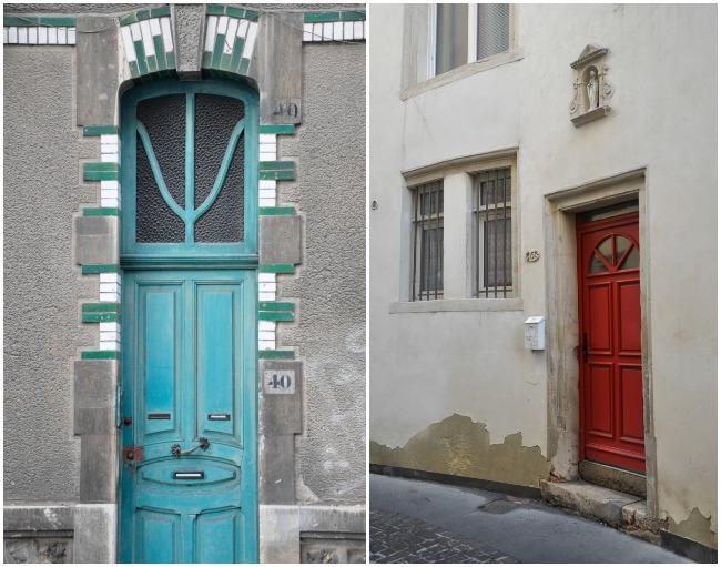 Portes colorées à Nancy