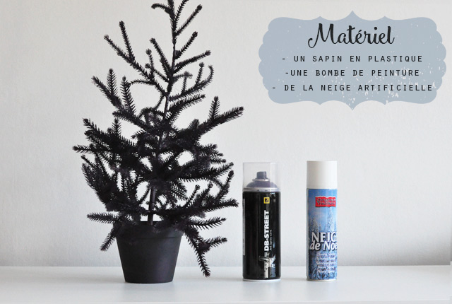 Diy sapin de no l en couleur birds and bicycles for Peindre a la bombe