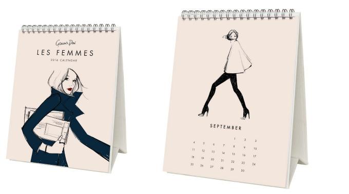 Calendrier 2016 Mode par Garance Doré