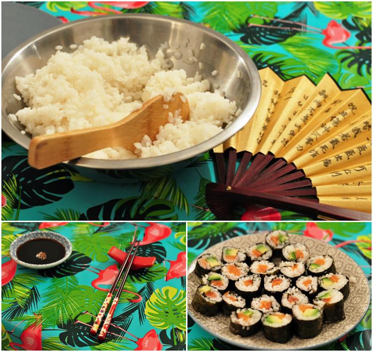 Des sushis fait à la maison