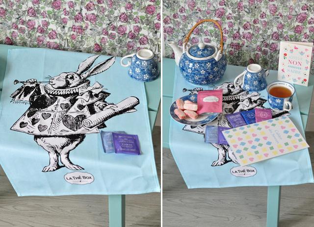 Thé Box: le tea towel Lapin Blanc