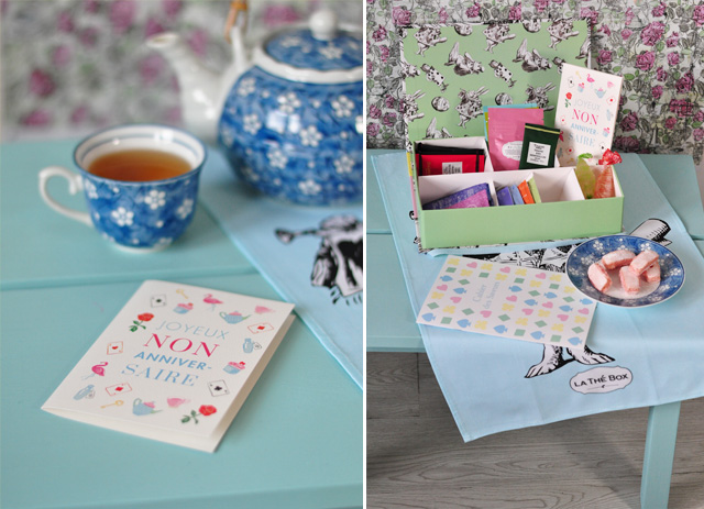 Photos de la thé box de mars 2016 - thème Alice