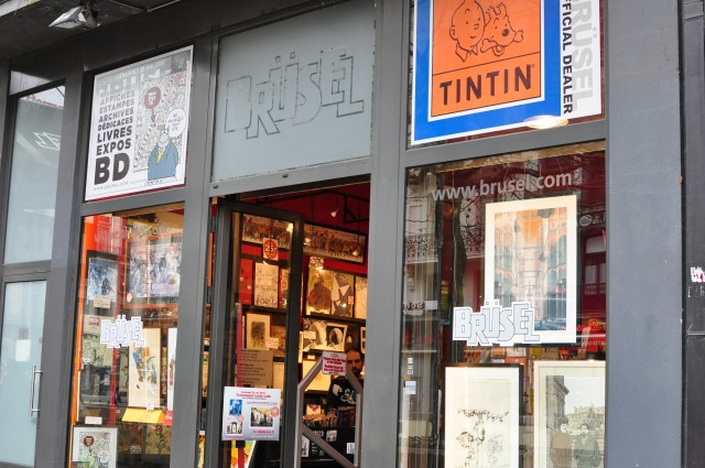 Chez Brusel librairie spécialisée dans les bandes dessinées à Bruxelles