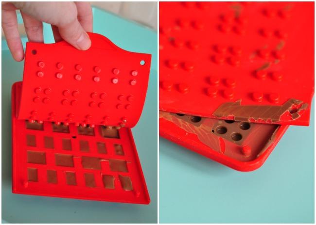Moule pour legos en chocolat