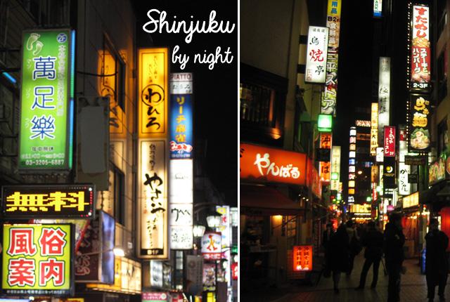 Shinjuku, quartier de Tokyo, de nuit!