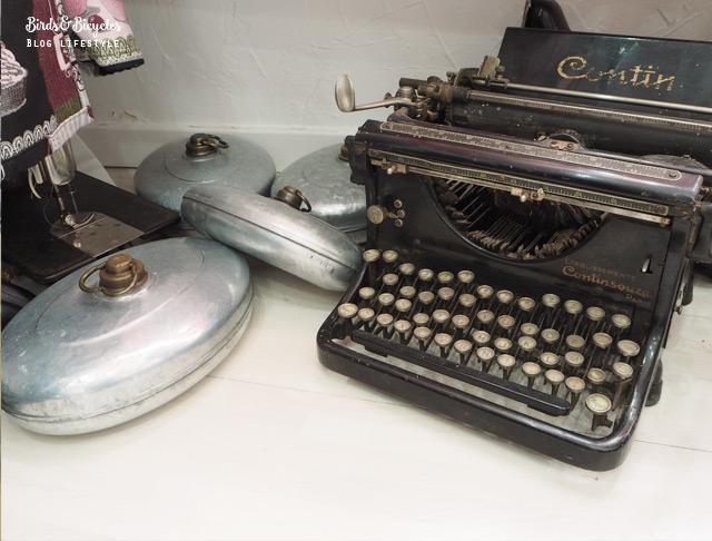 Machine à écrire vintage en Alsace - - bonne adresse sur le blog lifestyle birds & bicycles