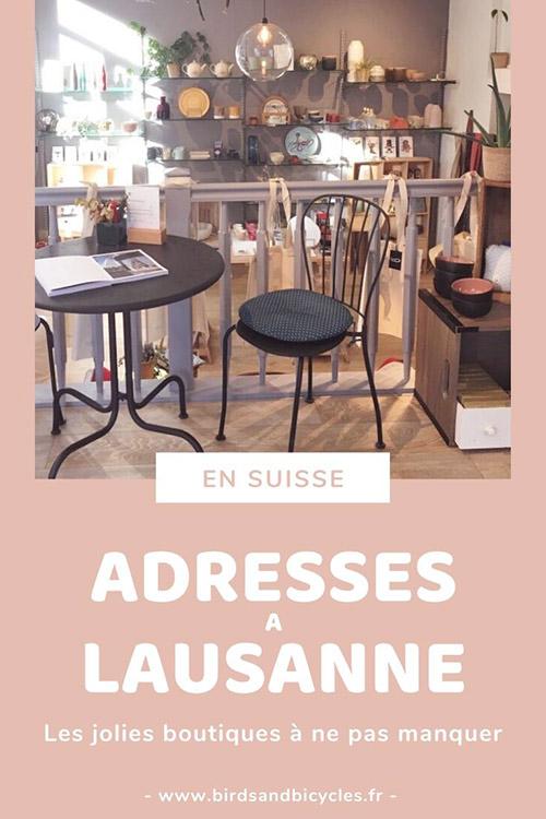 Carnet d'adresses de jolies boutiques à Lausanne