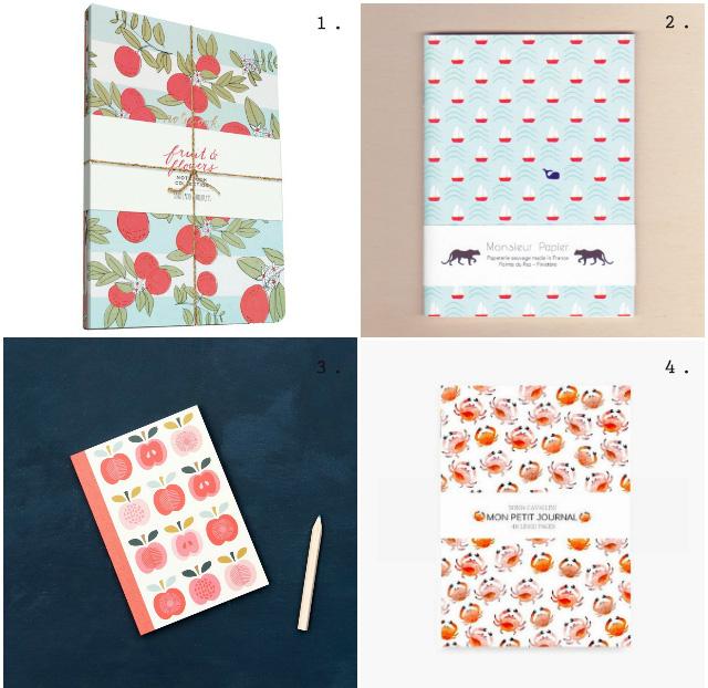Papeterie: sélection de jolis carnets spécial summer
