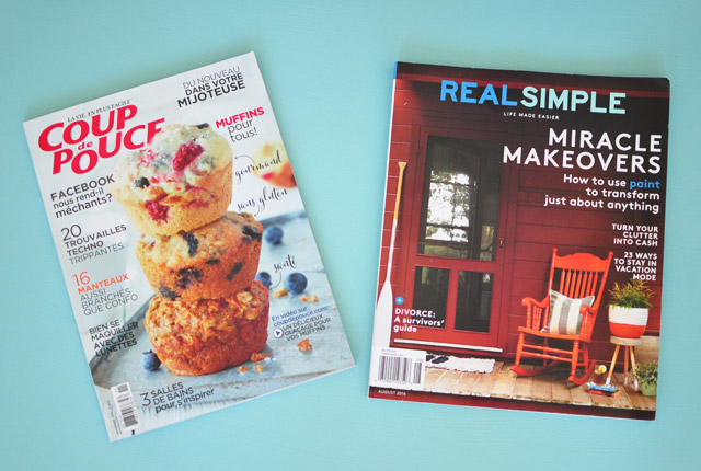 Des magazines à ramener du Québec