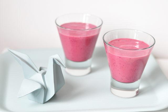 Un smoothie aux fruits rouges - Mes petits bonheurs sur le blog lifestyle Birds and Bicycles