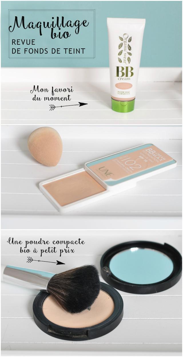 Maquillage naturel: avis & tests de fonds de teint bio {BB Cream de Physicians Formula et Une Beauty, Poudre compacte de PuroBio, etc}
