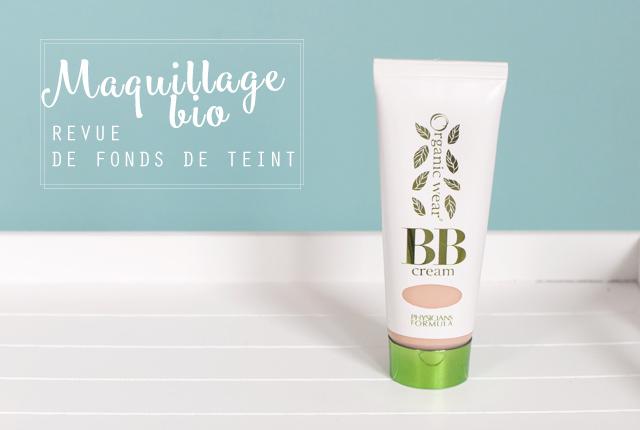 Revue de maquillage naturel: les fonds de teint bio que je préfère! Sur le blog de beauté bio Birds & Bicycles