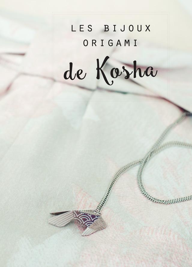 """Coup de coeur pour le pendentif poisson origami de Kosha, une marque suisse derrière la collection japonisante """"Joligami"""""""