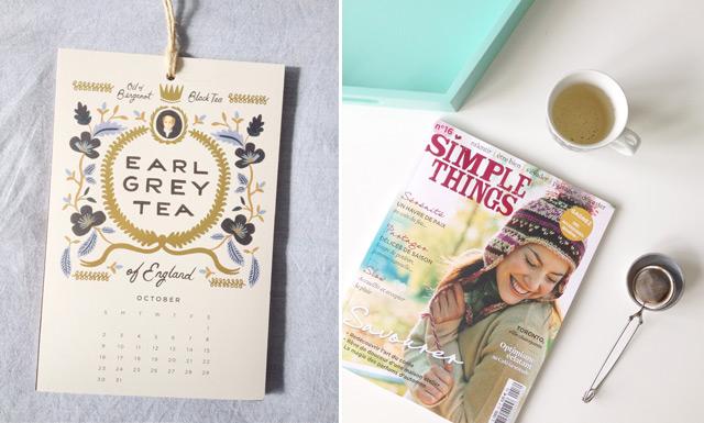 Calendrier de Rifle Paper Co et magazine Simple Things - blog lifestyle féminin B&B