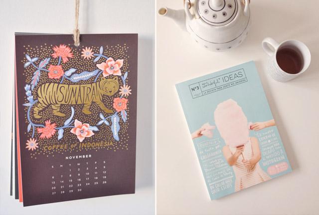 Joli calendrier de Rifle Paper Co et Magazine de Mr Wonderful - Blog de jolies découvertes Birds & Bicycles