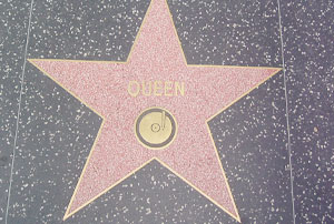 Hollywood Boulevard : l'étoile de Queen à Los Angeles