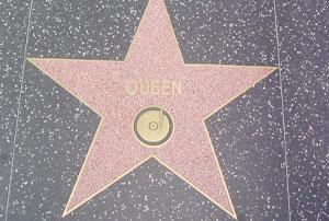 Hollywood Boulevard : l'étoile de Queen à Los Angeles