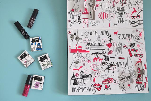 Avis sur le calendrier de l'Avent de maquillage NYX Wanderlust