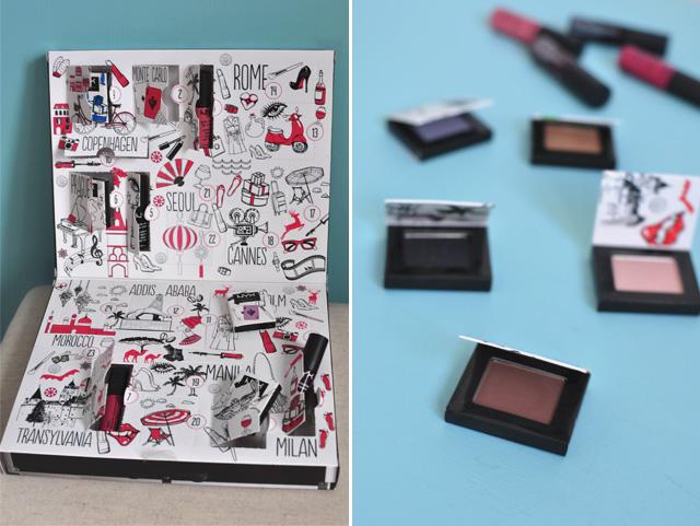 Avis sur le calendrier de l'Avent de maquillage NYX Wanderlust sur le blog féminin Birds & Bicycles