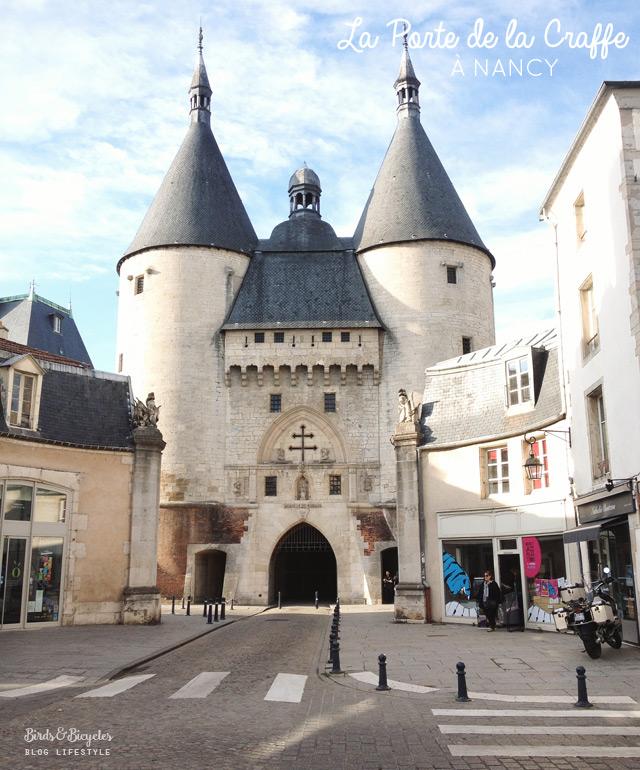 Visiter Nancy: la porte de la Craffe! Sur le blog voyage & lifestyle Birds & Bicycles