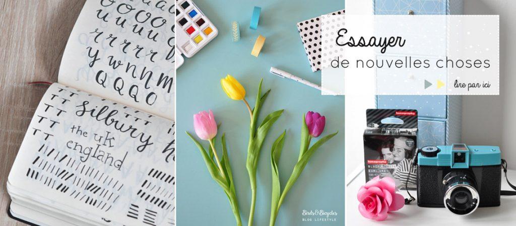 Humeurs créatives: essayer de nouvelles choses