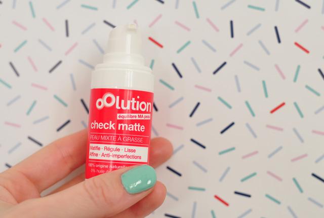 Marque Oolution: avis sur le soin Check Matte! Revue de cosmétiques bio sur le blog féminin et beauté Birds & Bicycles