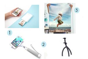 Ma wishlist photo - blog lifestyle birds and bicycles - Avec une perche à selfie, une imprimante Polaroid, de l'impression de photo au format affiche, un filtre polarisant ou un gorilla pod!