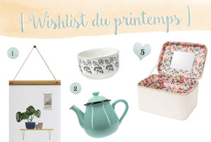 Wishlist shopping du printemps