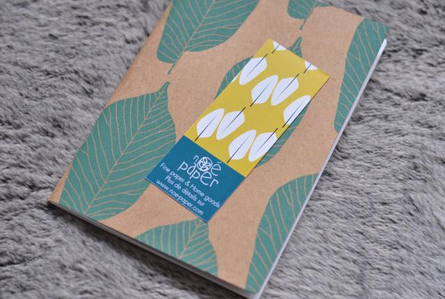 Carnets feuille de Noé Paper, créateurs français de papeterie