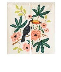 Rideau Toucan - Déco: ma sélection de rideaux de porte en tissu sur le blog