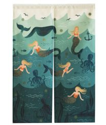 Déco, panneau en tissu sirènes: ma sélection de rideaux de porte en tissu sur le blog
