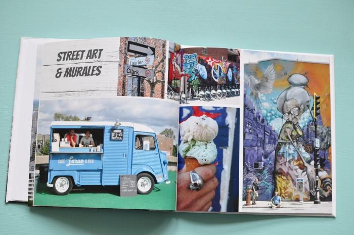 Page dédiée au street art dans mon livre photo de Flexilivre
