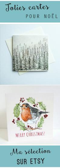 Ma sélection de jolies cartes de Noël d'illustratrices, sur Etsy
