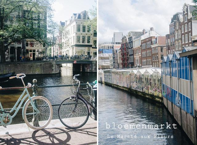 Le bloemenmarkt flottant d'Amsterdam - Le marché aux fleurs!