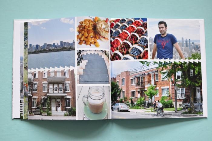 Astuce de mise en page pour créer un beau livre photo de voyage en ligne: veiller à l'harmonie des couleurs sur une page