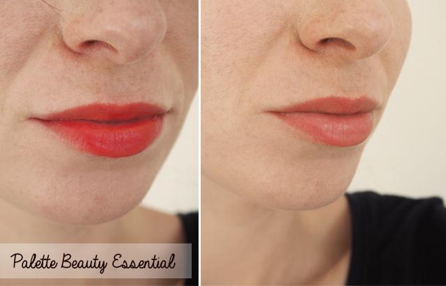 Swatch des rouges à lèvres de la Palette Beauty Essential de Couleur Caramel