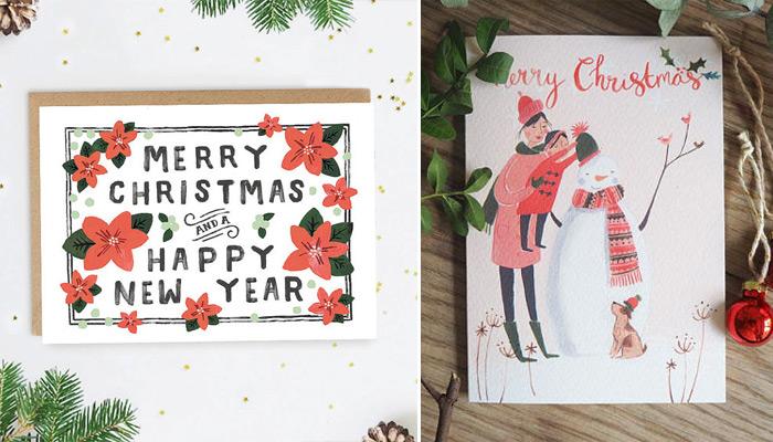 Jolies cartes de Noël: ma sélection 2017