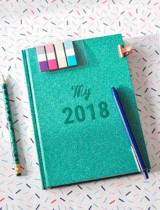 Un agenda pour bien s'organiser en 2018