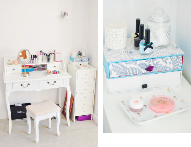 Touche girly dans mon appart: ma coiffeuse!