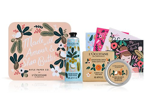 Papeterie & cosmétique! Collaboration: Rifle Paper Co X L'Occitane en Provence.